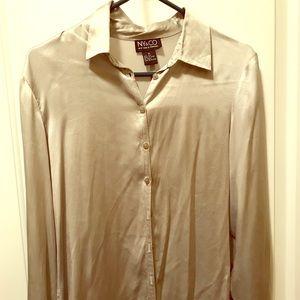 Silk NY&Co long sleeve blouse